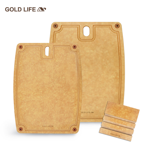 GOLD LIFE美國原木不吸水抗菌砧板 (3件組)