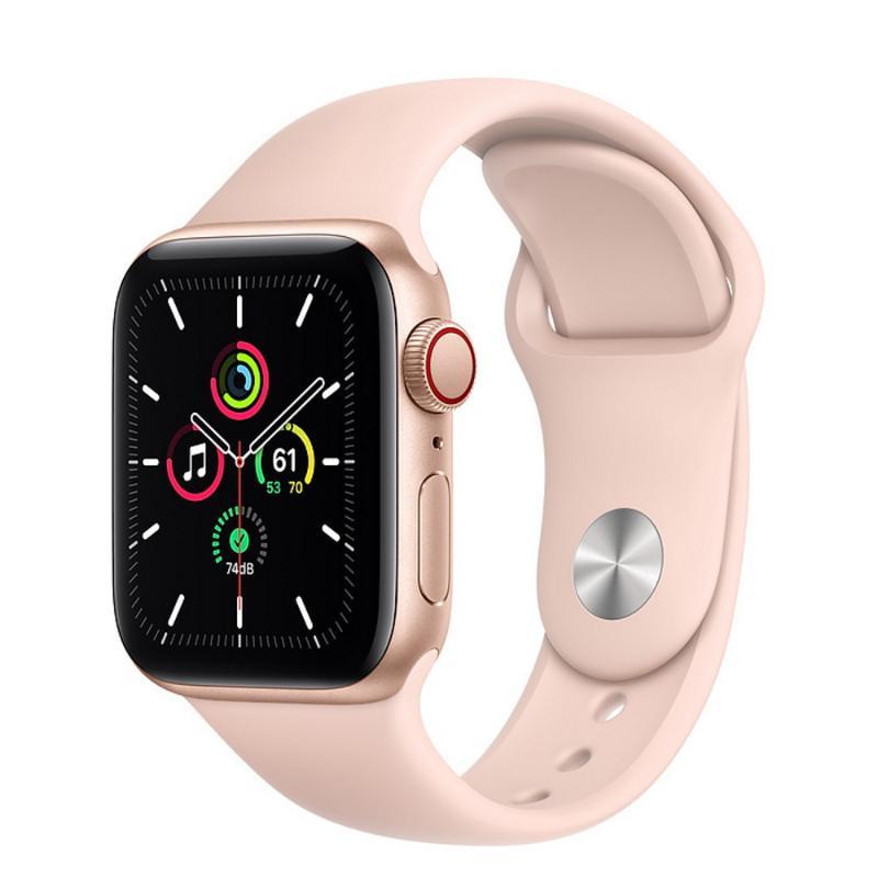 Apple Watch SE LTE 40mm 金色鋁金屬-粉沙色運動型錶帶