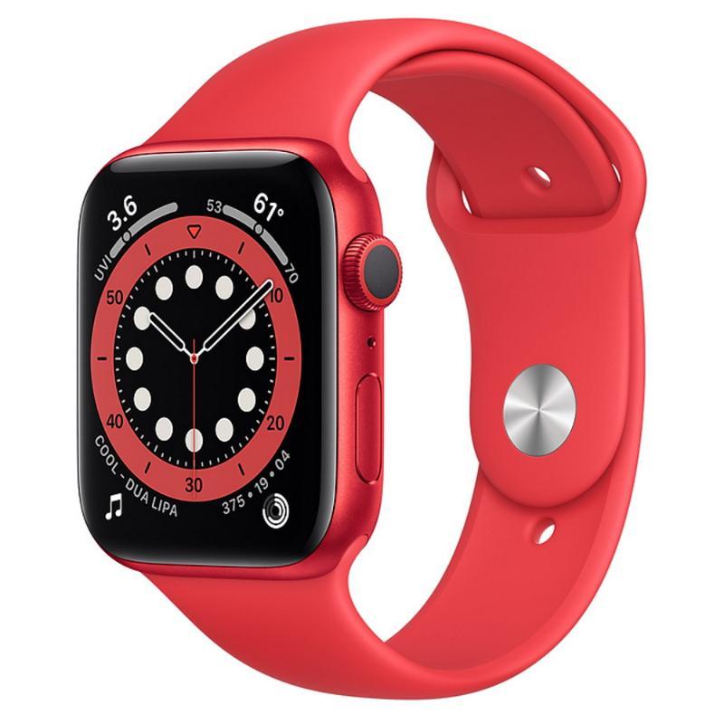 Apple Watch S6 GPS 44mm 紅色鋁金屬-紅色運動型錶帶