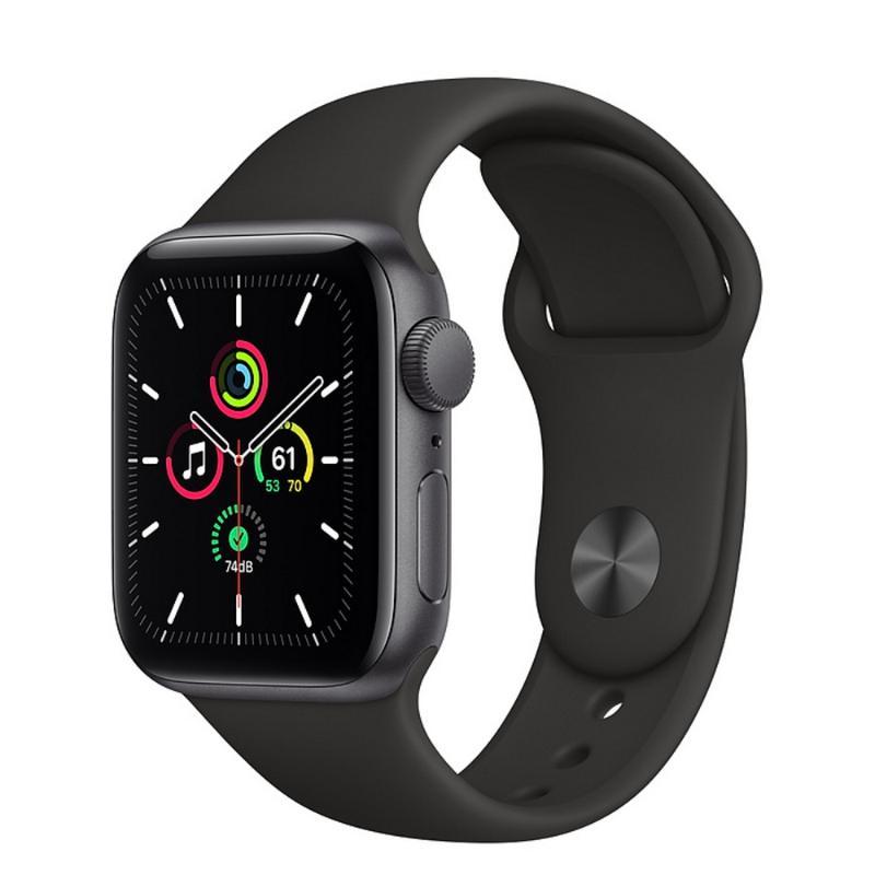 Apple Watch SE GPS 40mm 太空灰色鋁金屬-黑色運動型錶帶