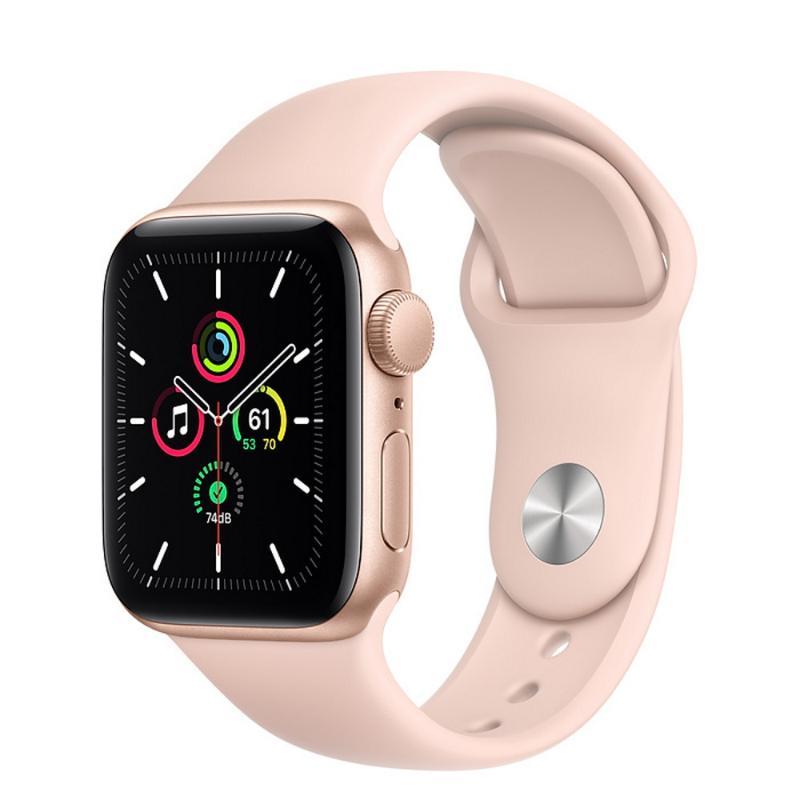 Apple Watch SE GPS 40mm 金色鋁金屬-粉沙色運動型錶帶