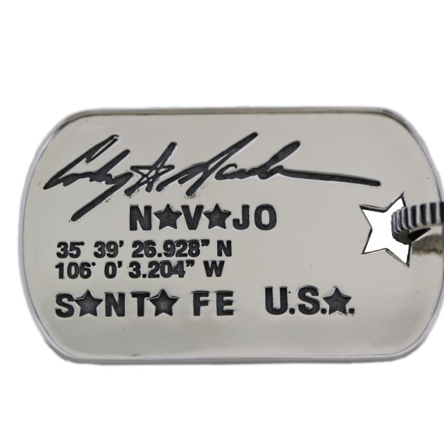 SHERIFF STAR & STAR HOLE DOG TAG WITH COIN EDGE