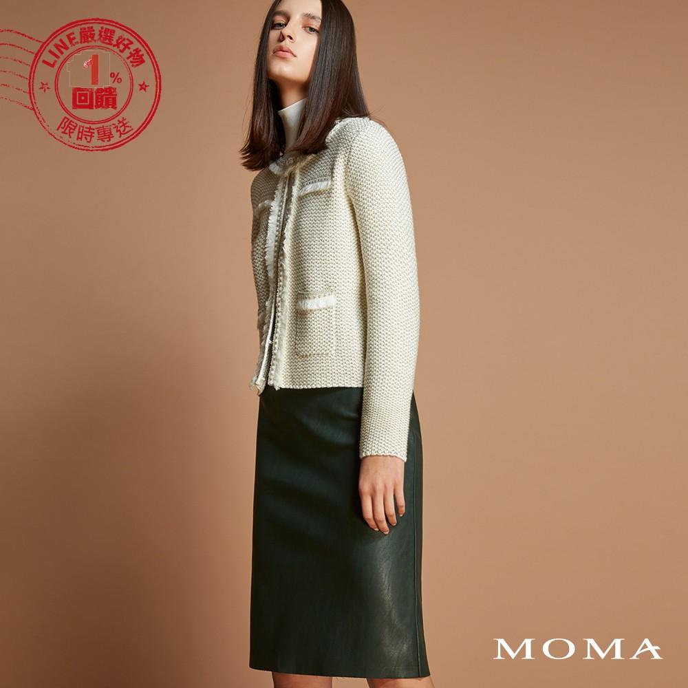 MOMA(92S078)個性直筒皮裙
