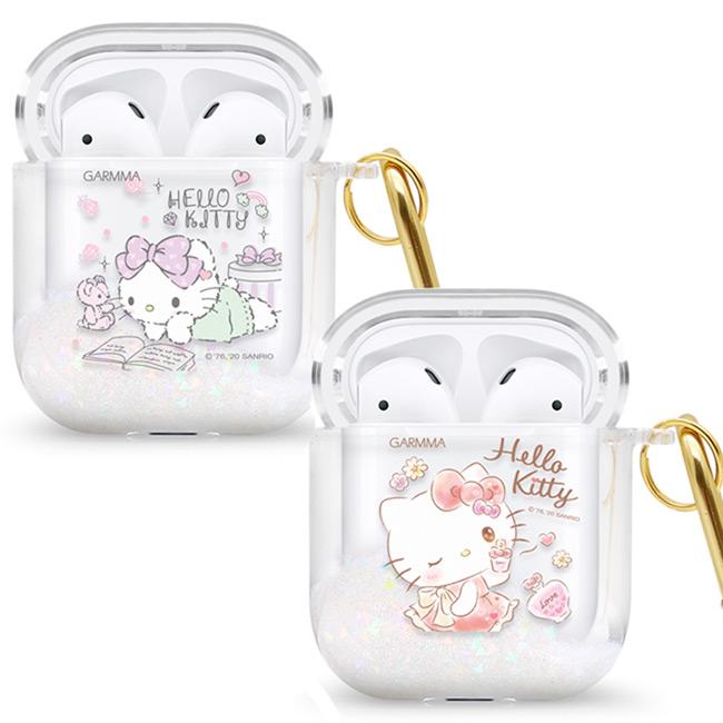GARMMA Hello Kitty AirPods 1&2代藍芽耳機流沙保護套