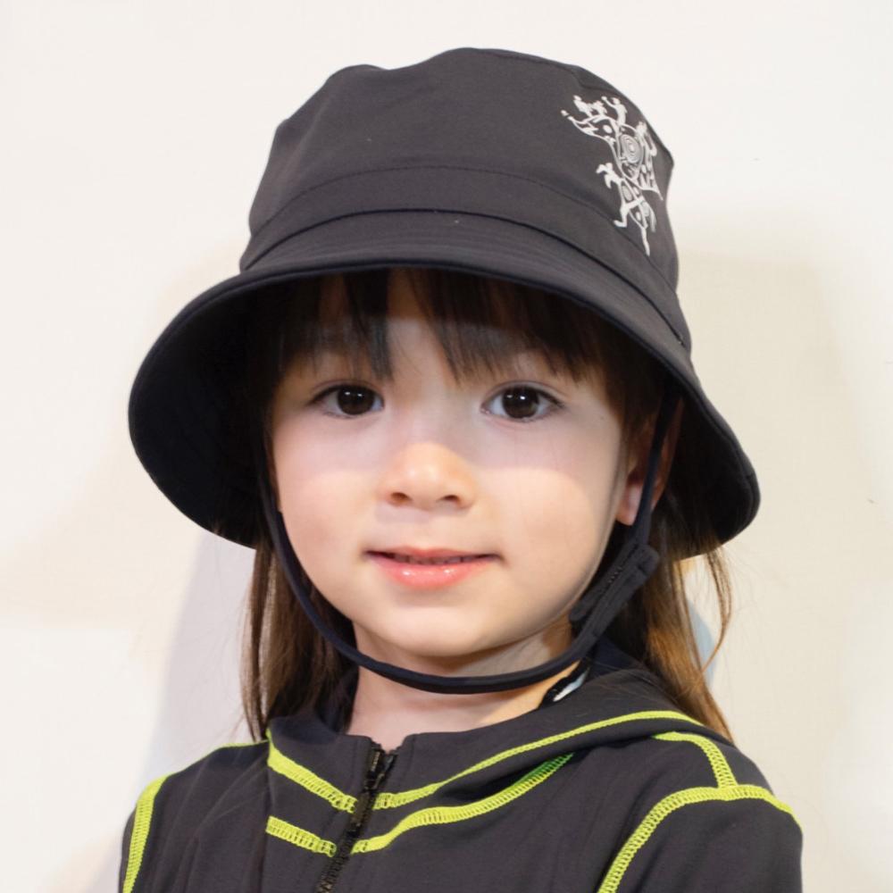 【HOII后益】時尚-圓筒帽-兒童(三色:黑/黑白/黑灰)
