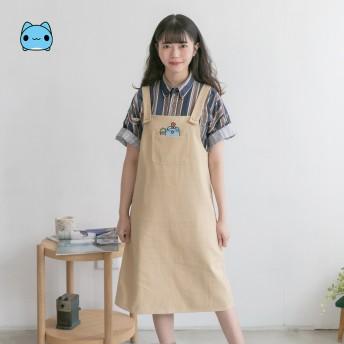 貓貓蟲咖波_種花花-口袋吊帶裙