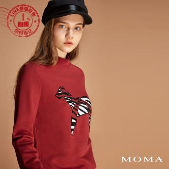 MOMA(92M054)跳色斑馬上衣
