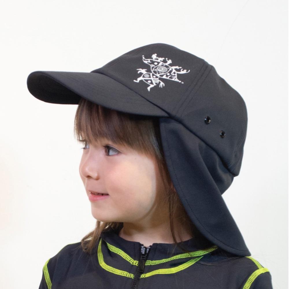 【HOII后益】時尚-二合一護耳帽-兒童(二色:黑/灰)