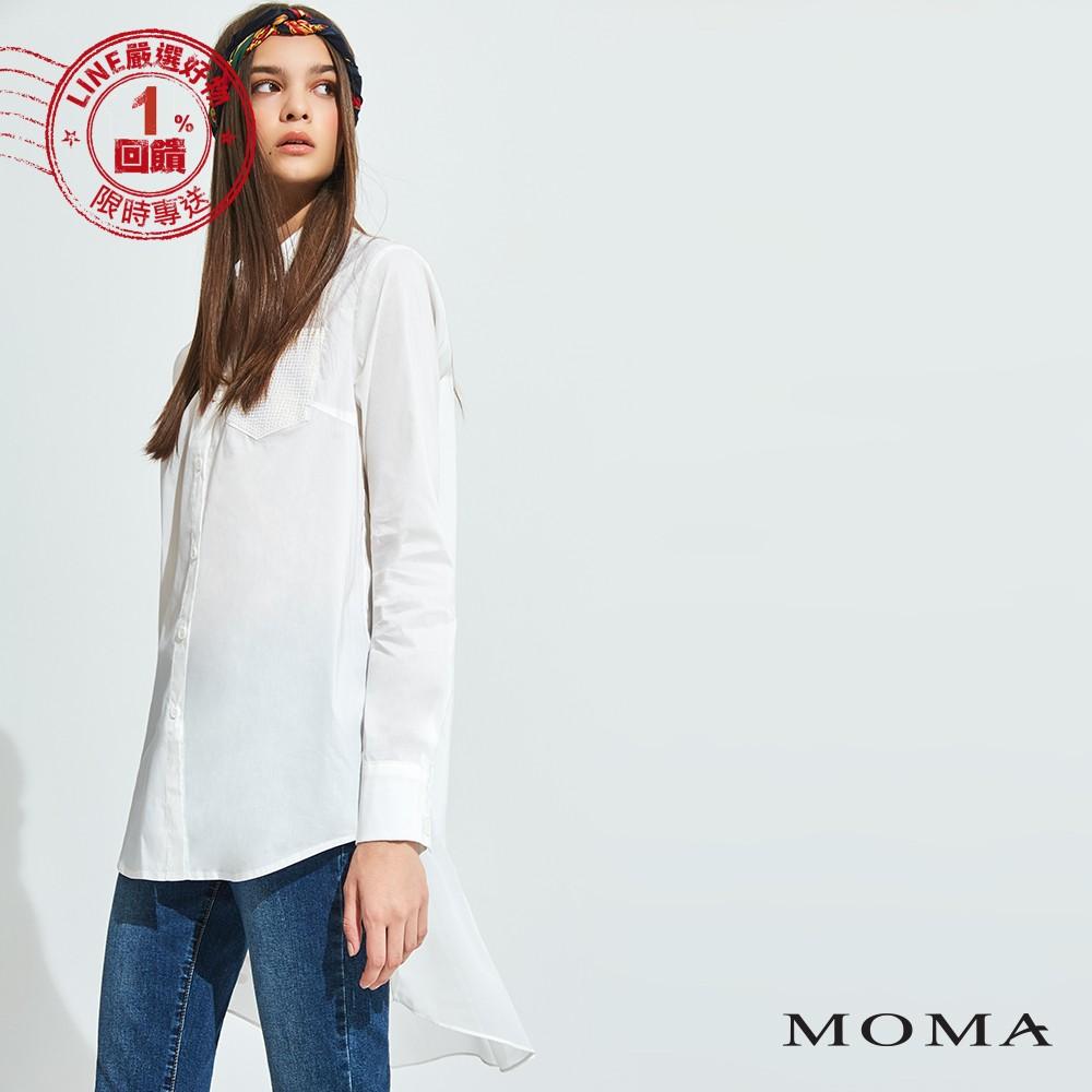 MOMA(92B008)後接雪紡個性襯衫
