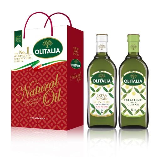 【可超商取貨】奧利塔1公升 2入禮盒(特級初榨橄欖油+精緻橄欖油)(因超取限重,只能訂購1盒。)