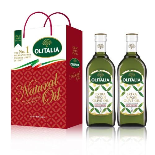 【可超商取貨】奧利塔特級初榨橄欖油1公升 2入禮盒(因超取限重,只能訂購1盒。)