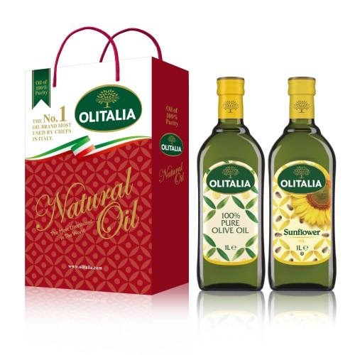 【可超商取貨】奧利塔1公升 2入禮盒(純橄欖油+頂級葵花油)(因超取限重,只能訂購1盒。)