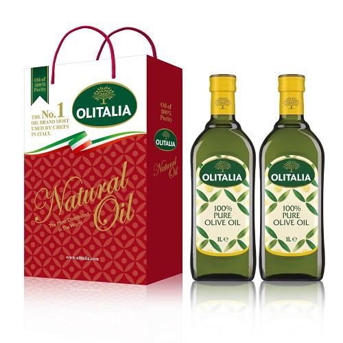 【可超商取貨】奧利塔純橄欖油1公升 2入禮盒(因超取限重,只能訂購1盒。)