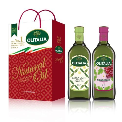 【可超商取貨】奧利塔1公升 2入禮盒(精緻橄欖油+葡萄籽油)(因超取限重,只能訂購1盒。)