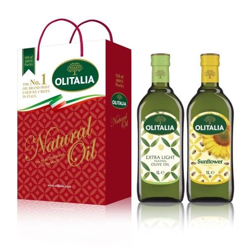 【可超商取貨】奧利塔1公升 2入禮盒(精緻橄欖油+頂級葵花油)(因超取限重,只能訂購1盒。)
