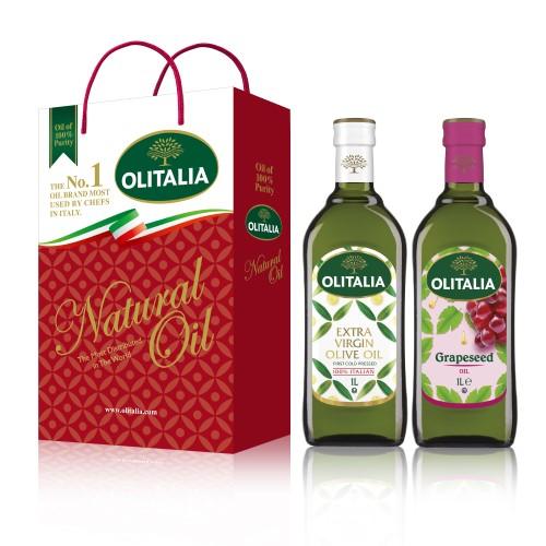 【可超商取貨】奧利塔1公升 2入禮盒(特級初榨橄欖油+葡萄籽油)(因超取限重,只能訂購1盒。)