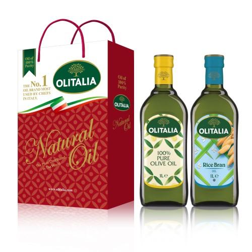 【可超商取貨】奧利塔1公升 2入禮盒(純橄欖油+玄米油)(因超取限重,只能訂購1盒。)
