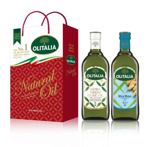 【可超商取貨】奧利塔1公升 2入禮盒(特級初榨橄欖油+玄米油)(因超取限重,只能訂購1盒。)