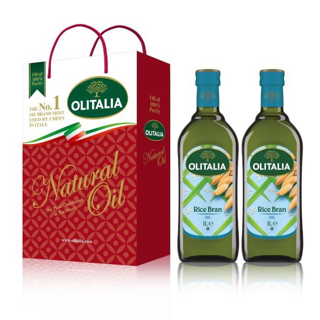 【可超商取貨】奧利塔玄米油1公升 2入禮盒(因超取限重,只能訂購1盒。)