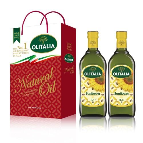 【可超商取貨】奧利塔頂級葵花油1公升 2入禮盒(因超取限重,只能訂購1盒。)
