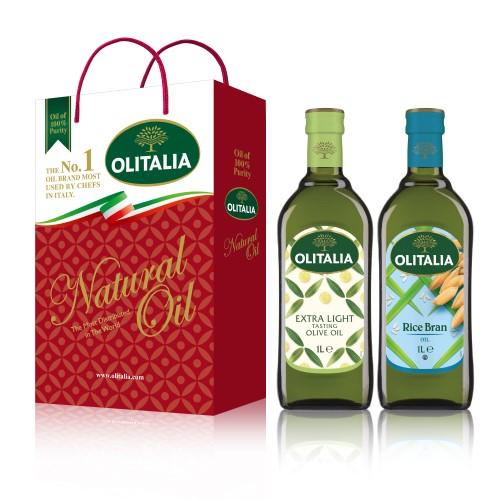 【可超商取貨】奧利塔1公升 2入禮盒(精緻橄欖油+玄米油)(因超取限重,只能訂購1盒。)
