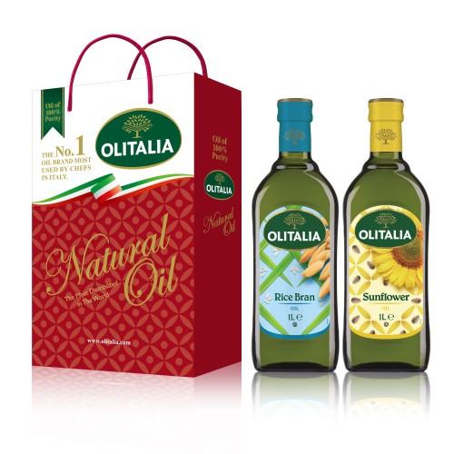 【可超商取貨】奧利塔1公升 2入禮盒(玄米油+頂級葵花油)(因超取限重,只能訂購1盒。)