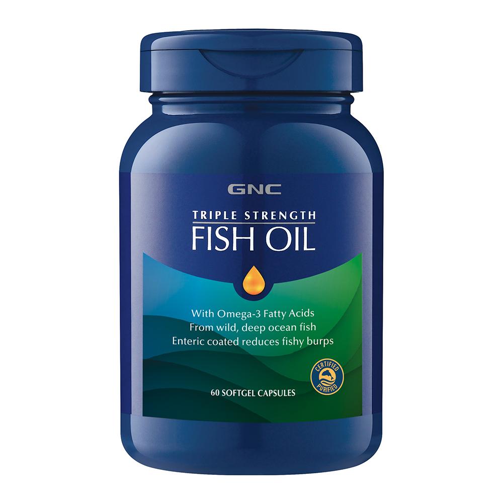 GNC 健安喜 三效魚油1500膠囊食品 60顆/瓶