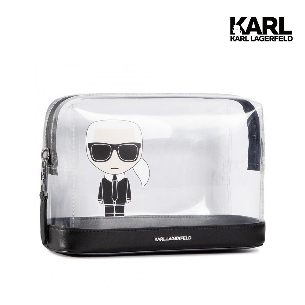 【KARL LAGERFELD】IKONIK雙層透明化妝包