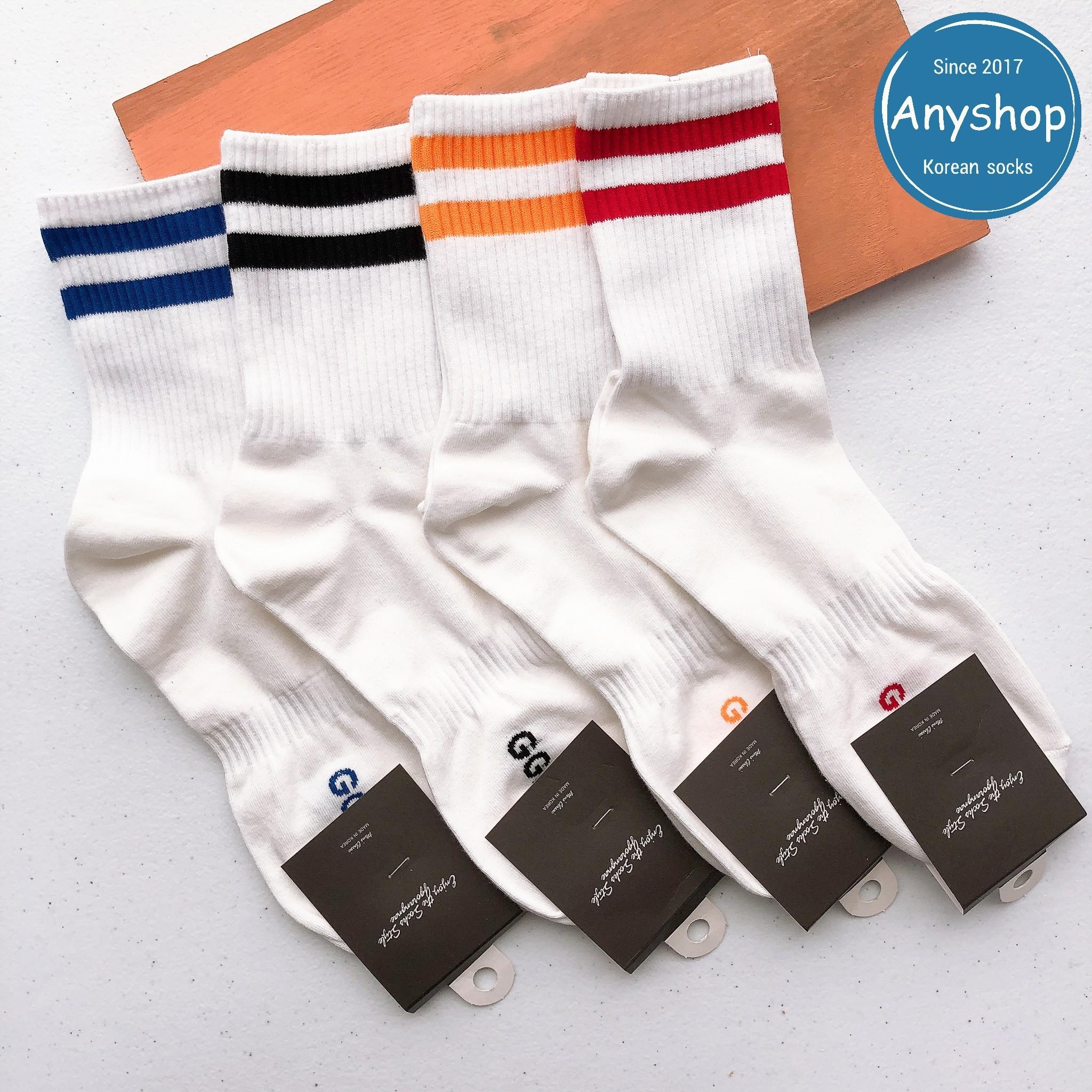 韓國襪-[Anyshop]彩色條紋長襪