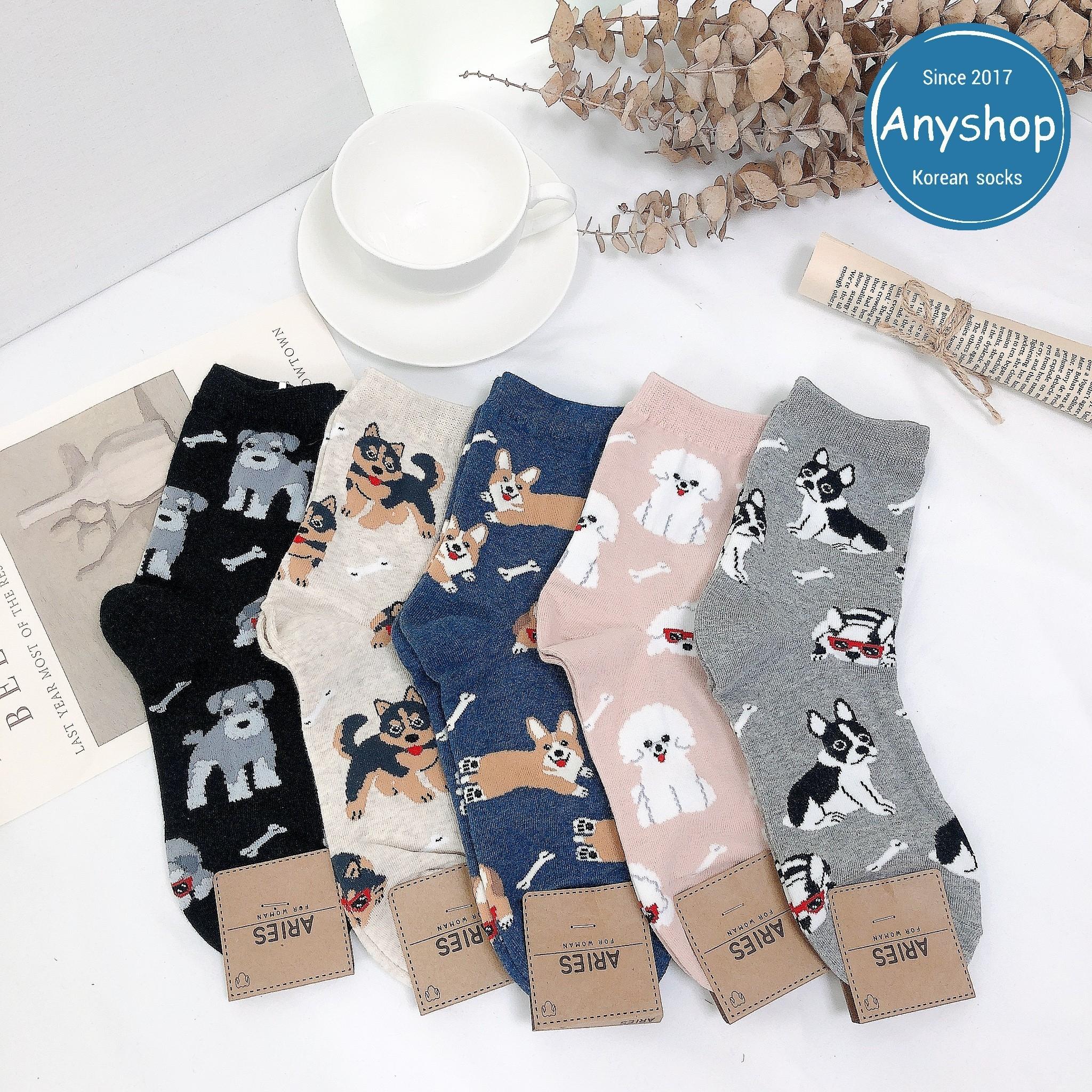 韓國襪-[Anyshop]狗狗系列長襪
