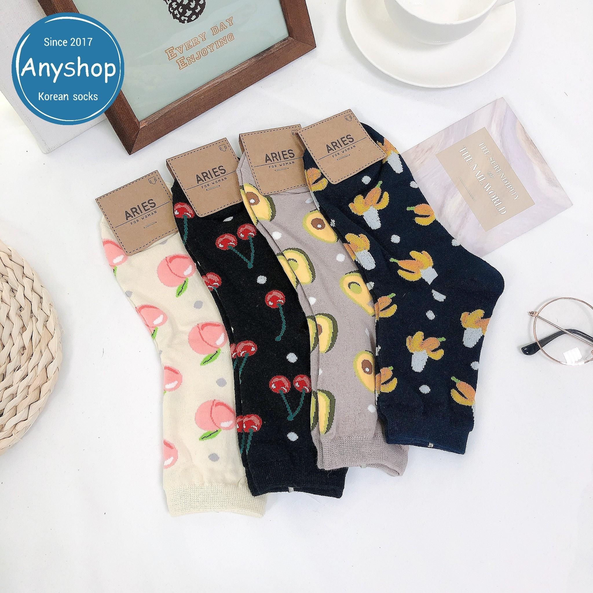 韓國襪-[Anyshop]水果款中筒襪