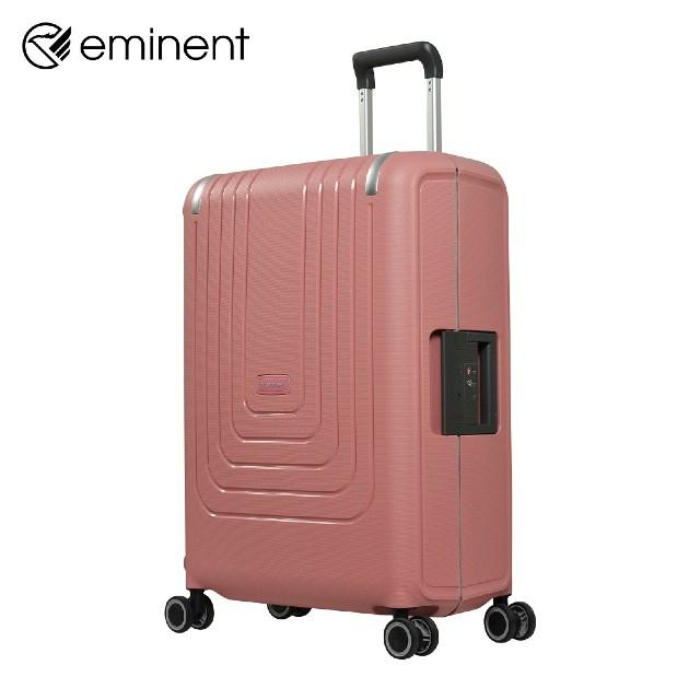 【eminent 萬國通路】B0006三邊扣鎖PP行李箱24吋(豆沙粉、米灰、深藍、深灰)