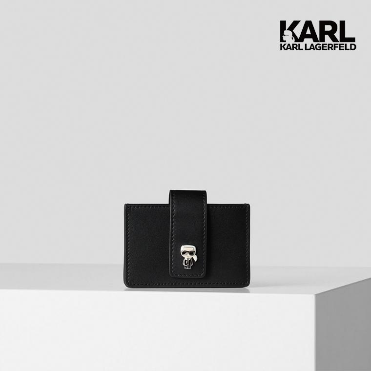【KARL LAGERFELD】IKONIK多層名片夾-黑