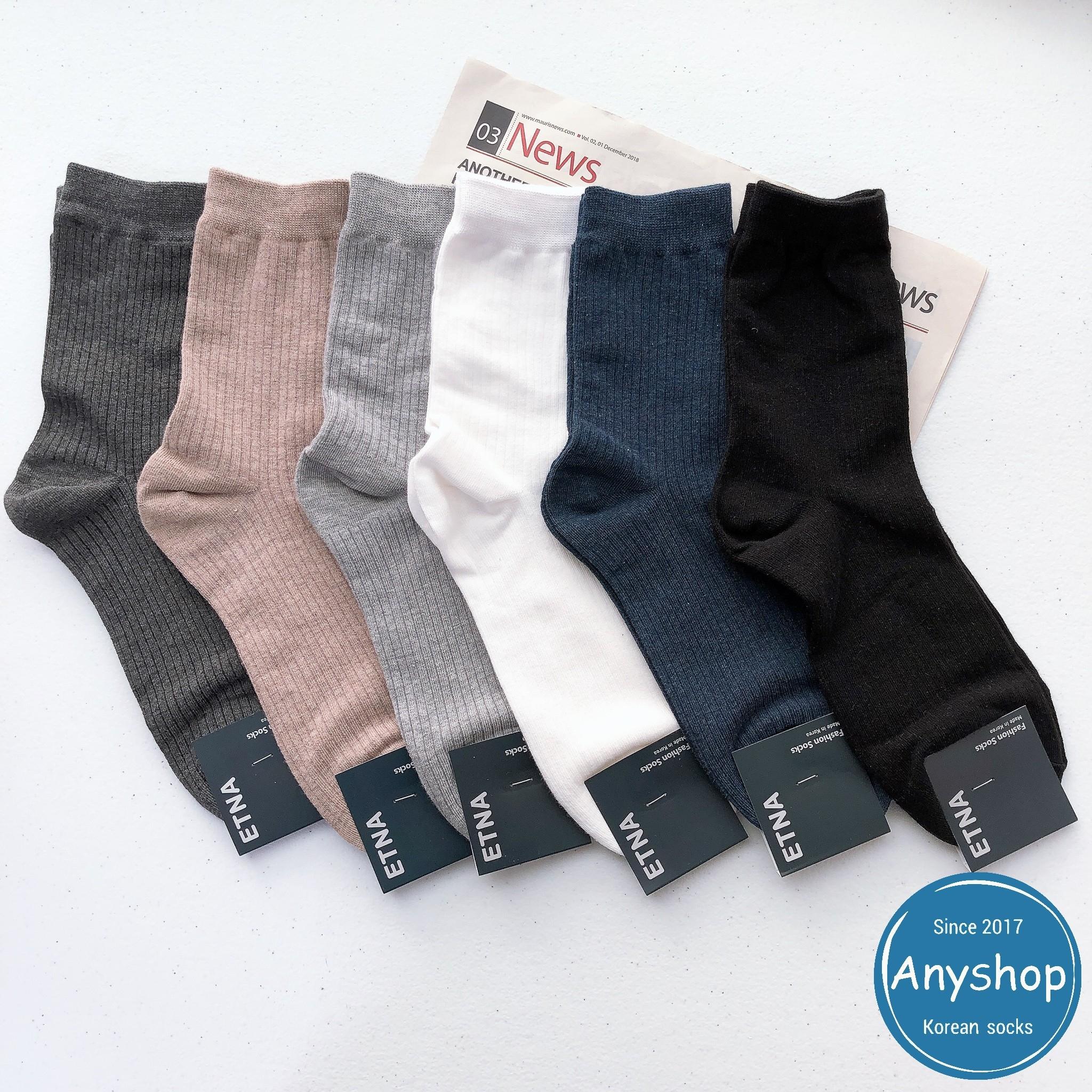 韓國襪-[Anyshop]ETNA男士素色長襪