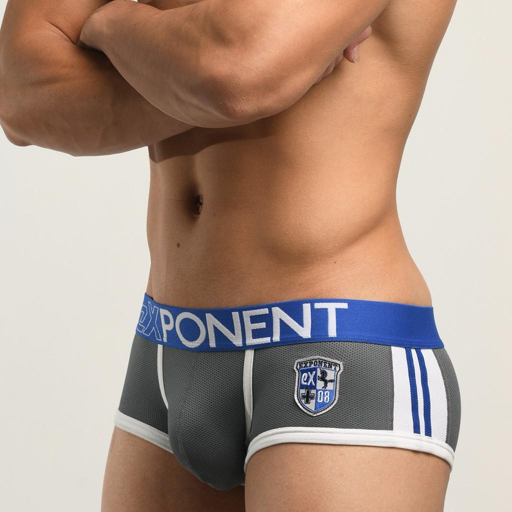 eXPONENT 3D MESH 品牌徽章 運動 四角內褲 (鐵灰色) D49S0436