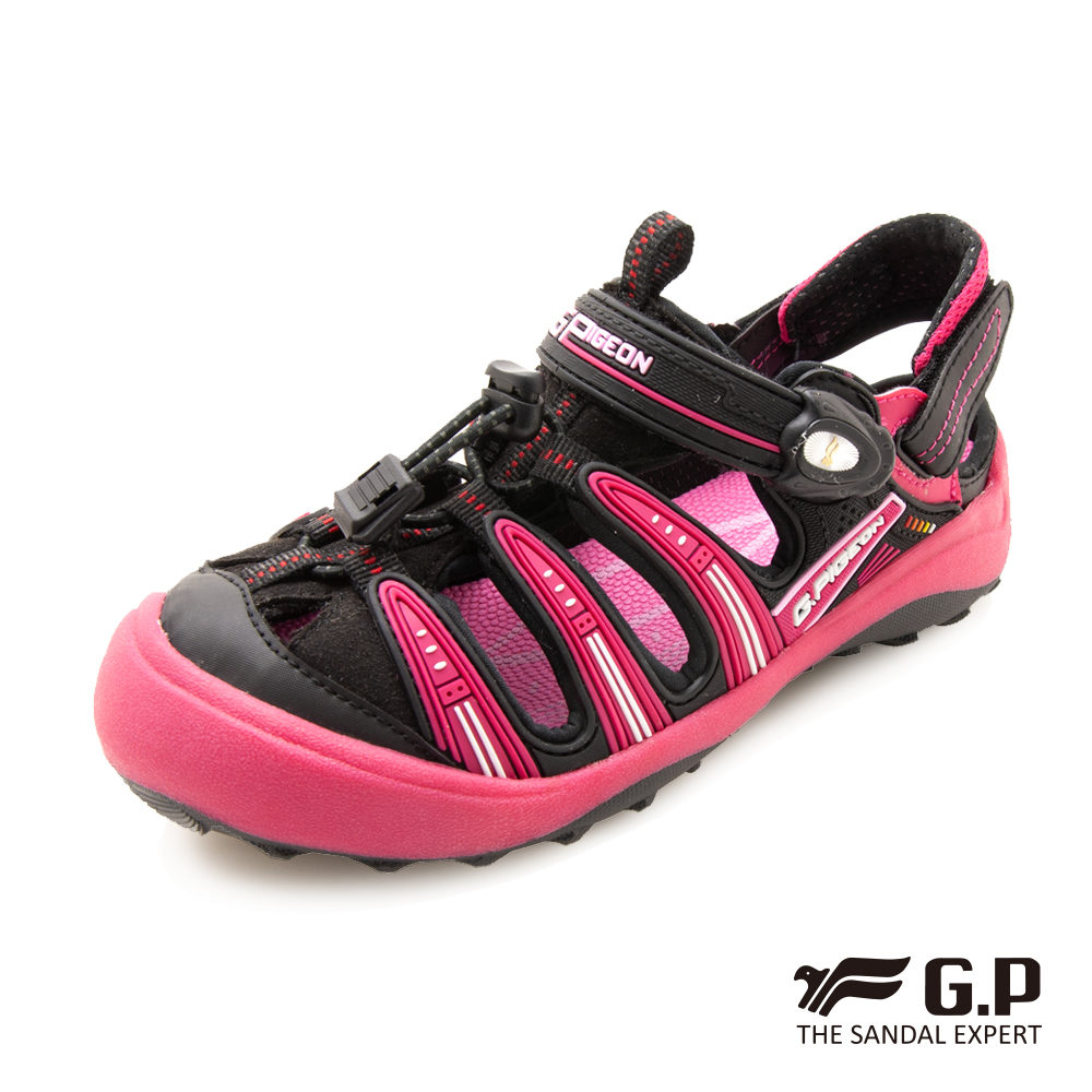 【G.P 兒童越野護趾鞋】G9224B 黑桃色 ( SIZE:31-35 共二色)