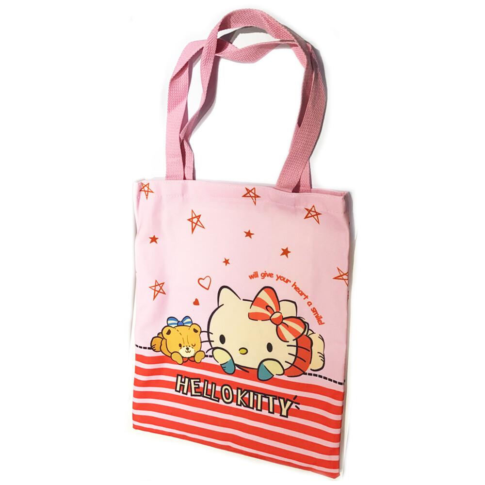 粉紅kitty 帆布單肩包 環保袋