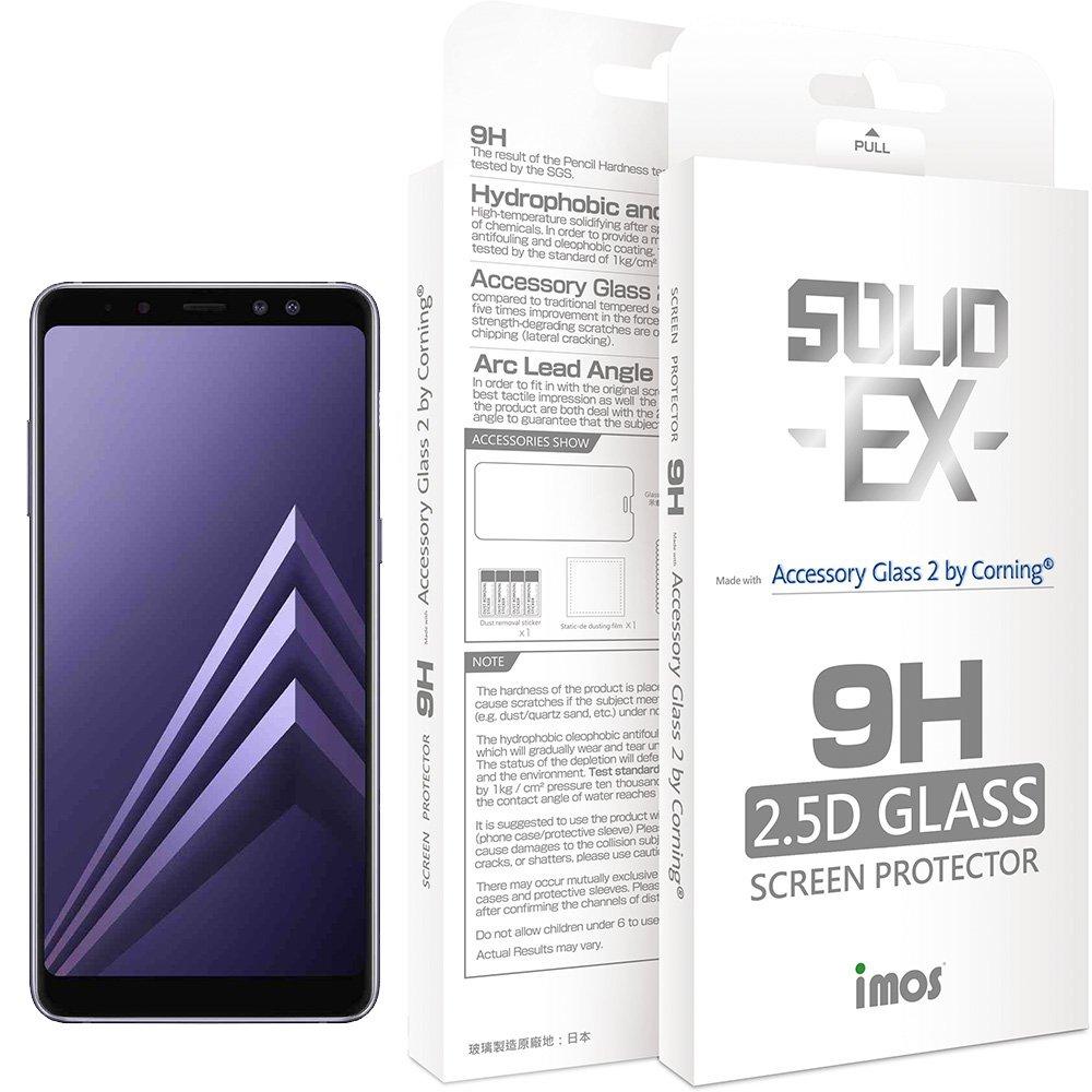 iMos Samsung Galaxy A8 Plus 2018 2.5D 滿版玻璃螢幕保護貼