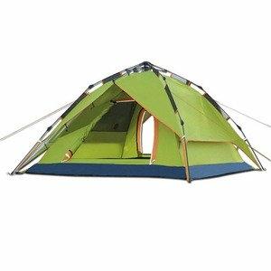 PUSH!戶外休閒登山用品 氣動液壓式3用4人四季專業型帳篷