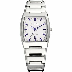 Roven Dino羅梵迪諾 經典魅力日期時尚腕錶(白-大/35*40mm) RD623-416