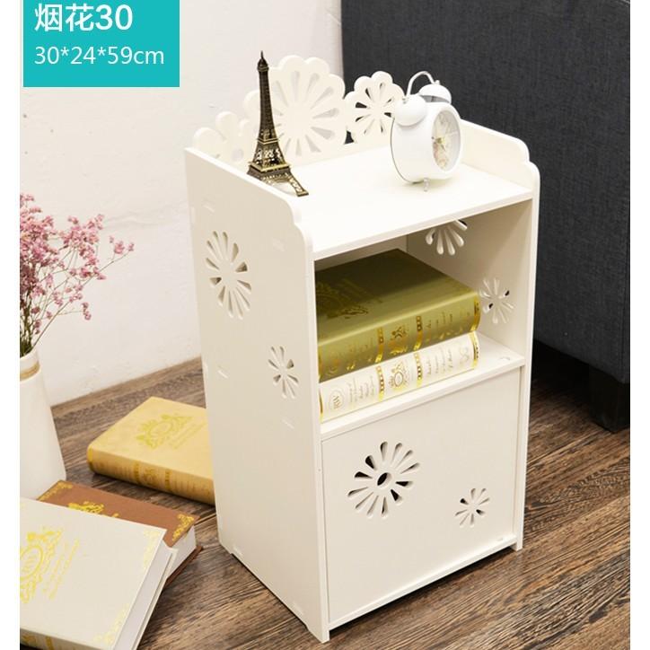 #免運費# 床頭櫃# 迷你組裝兒童收納櫃置物架簡易窄櫃臥室卡通小型床邊小櫃子
