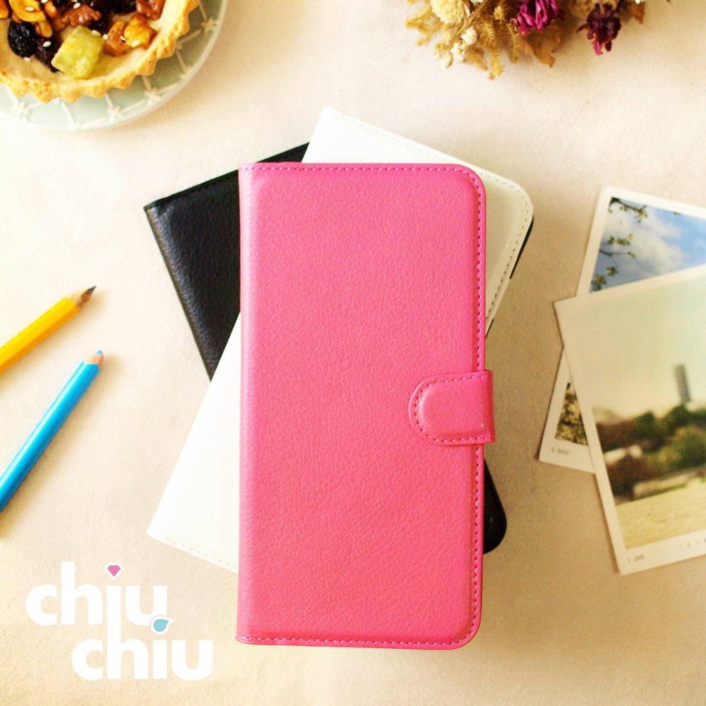 【CHIUCHIU】Apple iPhone Xs (5.8吋)荔枝紋側掀式可插卡立架型保護皮套