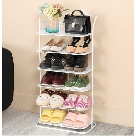 免運 歐式鐵藝多層鞋架家用金屬收納鞋架簡約現代簡易大鞋櫃客廳