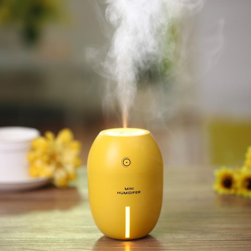 一件免運  創意家居用品百貨實用 靜音檸檬加濕器 辦公室必備 方便攜帶 爆款  加濕器 噴霧 美容