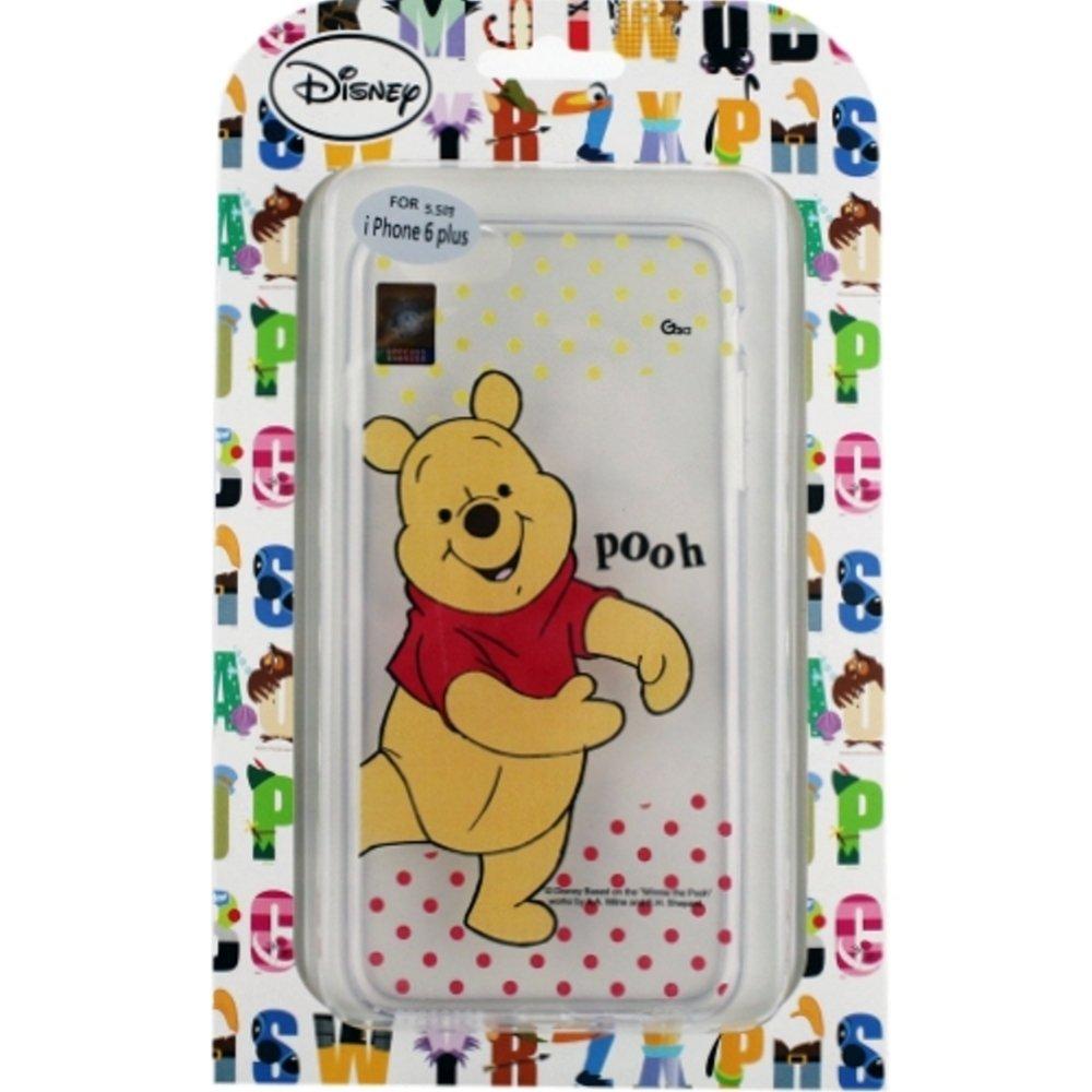【Disney】Apple iPhone 6 Plus (5.5吋) 彩繪透明保護軟套-維尼