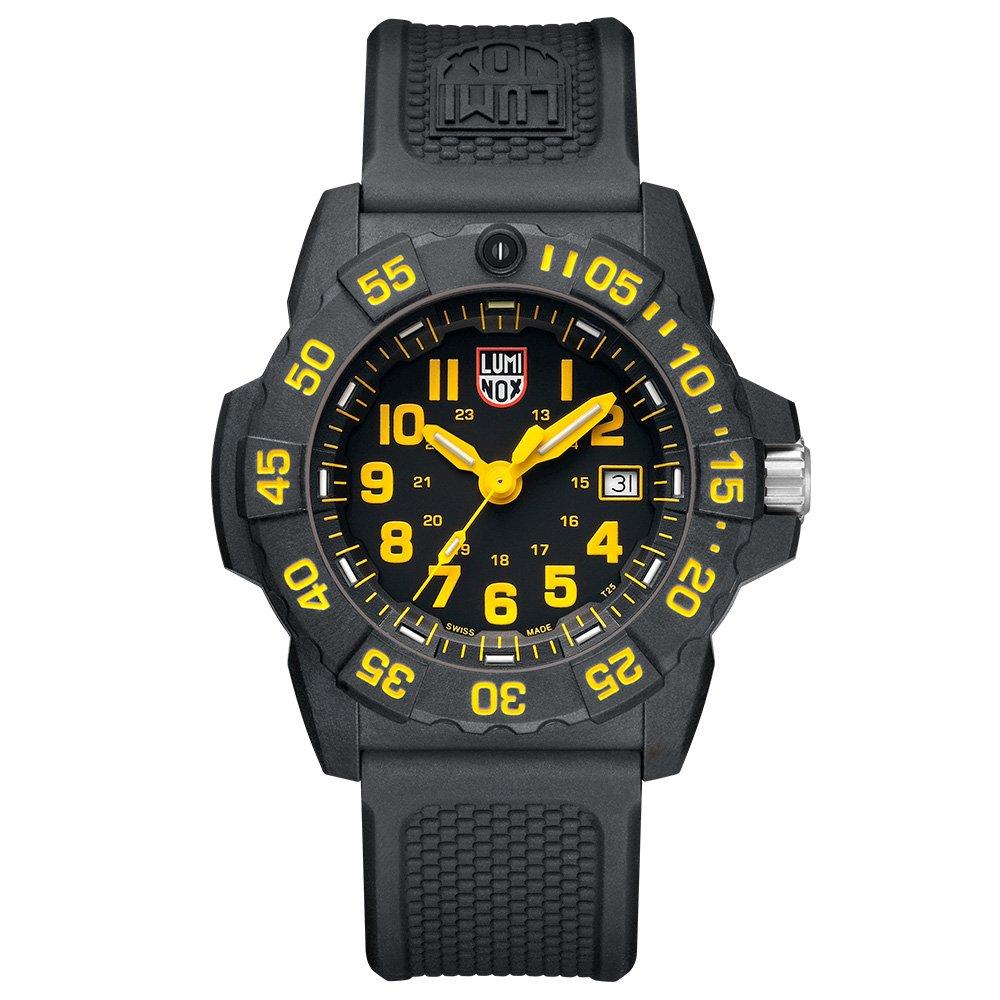 LUMINOX 雷明時NAVY SEAL 3500全新海豹2代系列腕錶-黃x白時標/45mm A3505