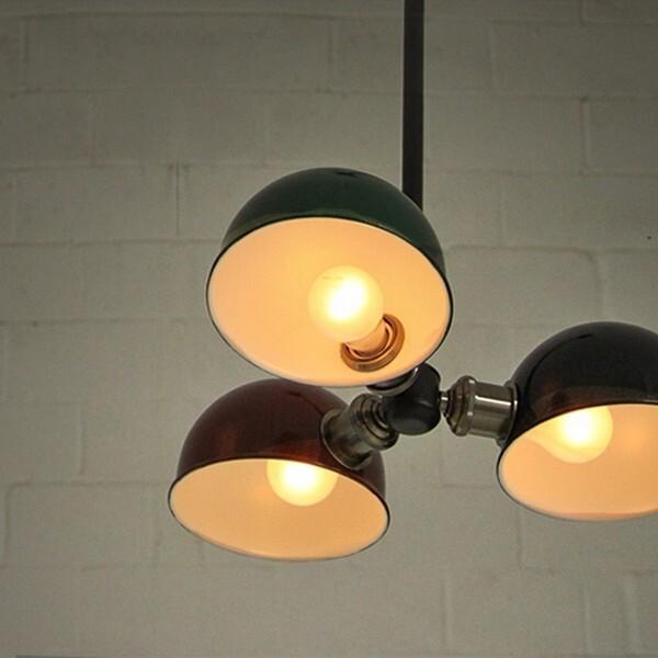 18park-鋼盔吸頂燈-3燈 [軍綠色,3燈]