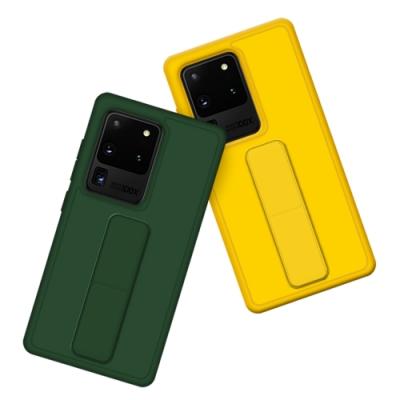 三星 Samsung  S20 Ultra 強力磁吸 純色 立架 支架手機殼 保護套-綠色款-S20 Ultra 松針綠*1