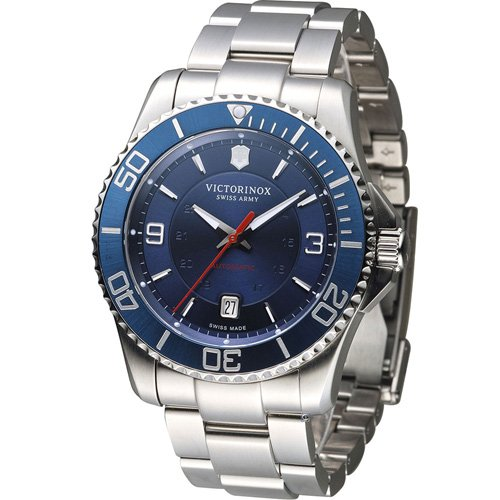 Victorinox 維氏 Maverick 維氏野戰部隊大三針機械錶 VISA-241706 藍