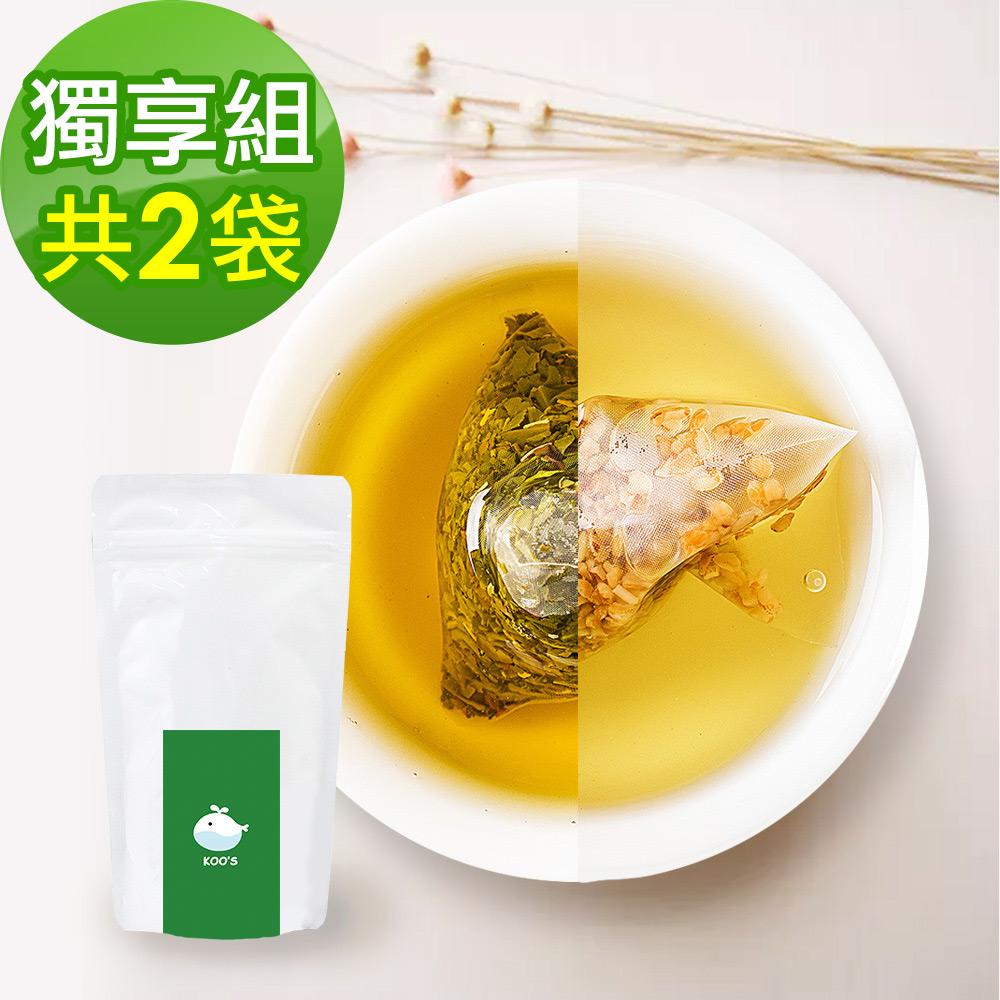 KOOS-韃靼黃金蕎麥茶+香韻桂花烏龍茶-獨享組各1袋(10包入)